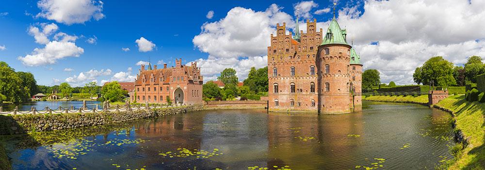 Schloss Egeskov auf Fünen in Dänemark