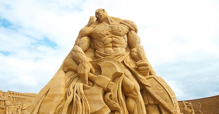 Sondervig Sandskulptur