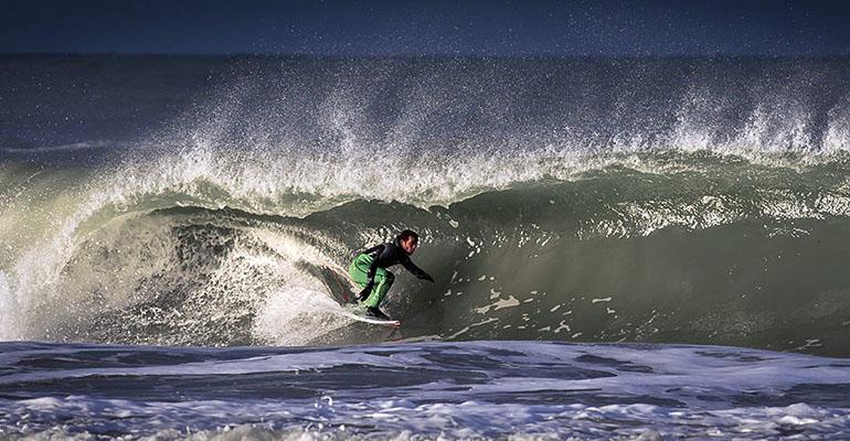 Wellenreiten an der Nordsee